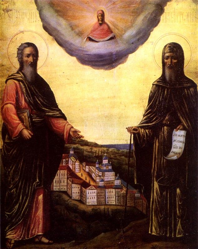 Апостол Андрей Первозванный и Антоний Печерский