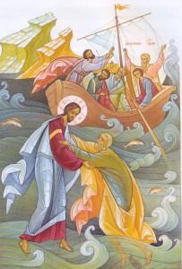 Апостол Петр идет по воде
