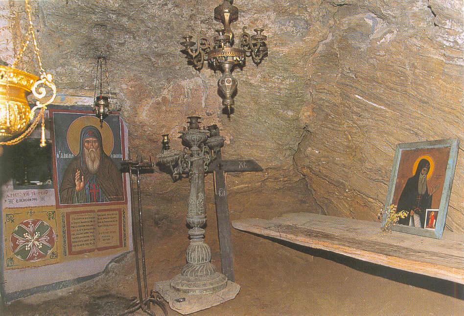 В пещере преподобного Антония