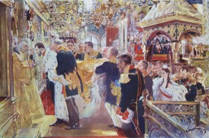 Миропомазание Царя Николая 1894
