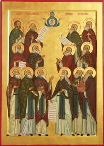 Оптинские старцы. Икона