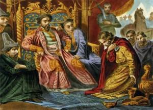 Александр Невский у хана