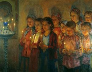 Дети поют в Церкви