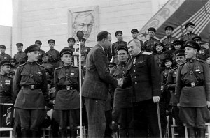 На гастролях в Чехословакии в 1946 г